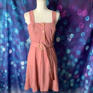 TopShop halter style belted dress. NWT.